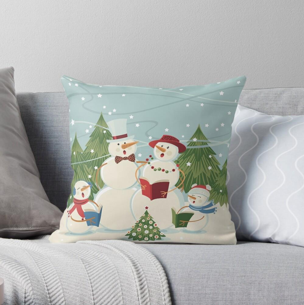 Christmas Song Throw Pillow