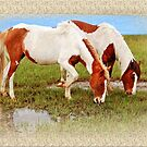 Pair of Painted Horses by Sandy O'Toole