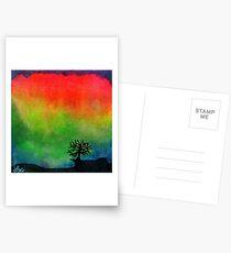 Aurora Australis with Tree Postcards