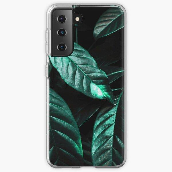 Shiny Emerald Green Leaves Samsung Galaxy Soft Case
