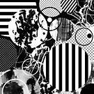 Black And White Chaos by Printpix