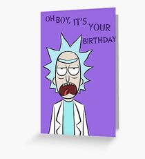 Rick and Morty Birthday Card Greeting Card