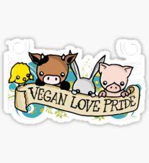 Vegan Love Pride Sticker
