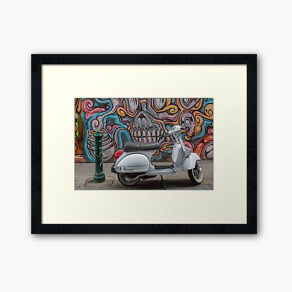 Vespa in Hosier Lane ,Melbourne Framed Art Print