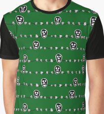 The Mighty Boosh Inspired Skull and Barbed Wire allover print Graphic T-Shirt
