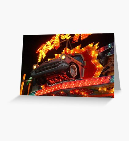 57 Chevy - Let's Rock and Roll! Greeting Card