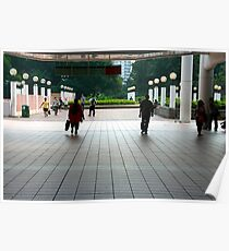 Subway entrance, Kowloon Park Poster