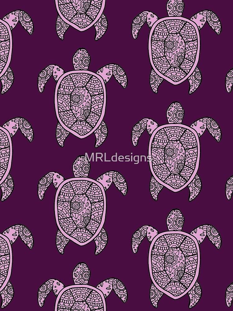 Schildkröte lila von MRLdesigns