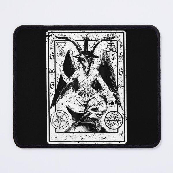 Vintage Baphomet Lucifer Occult Pentagram Demonic Mouse Pad