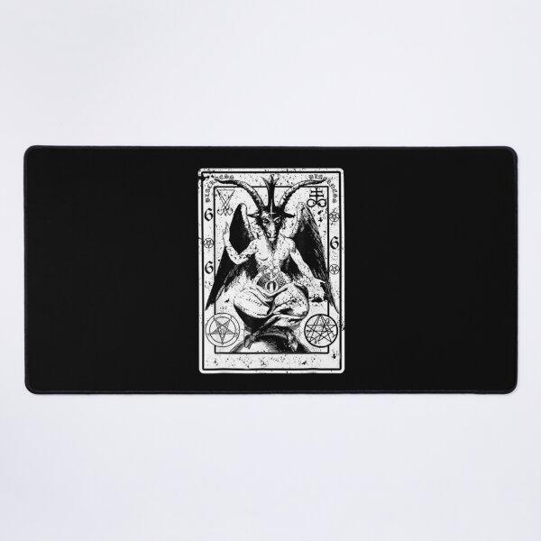 Vintage Baphomet Lucifer Occult Pentagram Demonic Desk Mat