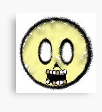 Smiley Done Died Canvas Print