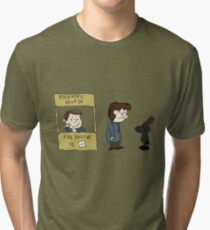 THE DOCTOR IS IN - Hannibal & Peanuts Crossover Art Tri-blend T-Shirt