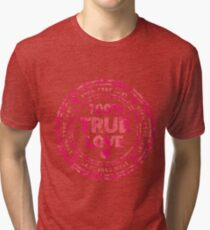 100% True Love Pink St. Valentine's Day Stamp Tri-blend T-Shirt