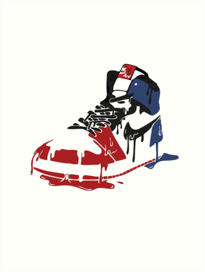 clearance prices hot sale online no sale tax 'Jordan 1 ' Art Print by aidanlathrope