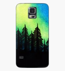Aurora Borealis with Trees Case/Skin for Samsung Galaxy