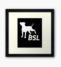 Piss on BSL Breed Specific Legislation Framed Print