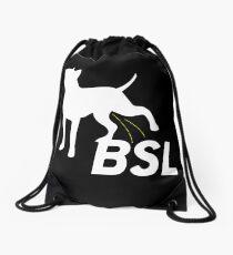 Piss on BSL Breed Specific Legislation Drawstring Bag