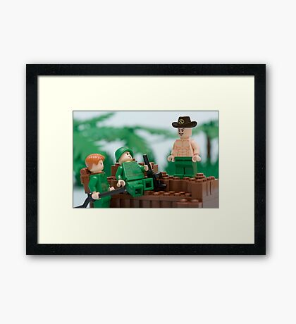 I love the smell of napalm in the morning Framed Print