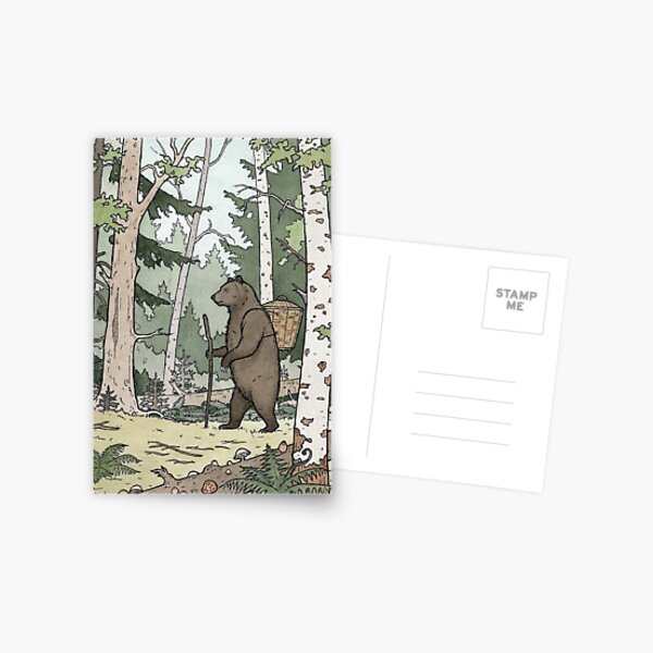 Bear in the Woods Postcard