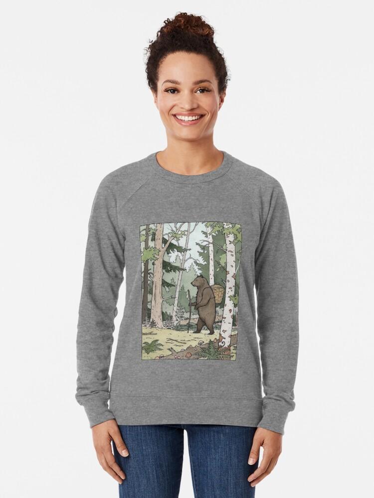 Alternate view of Bear in the Woods Lightweight Sweatshirt
