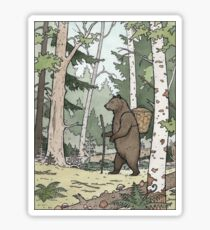 Bear in the Woods Sticker