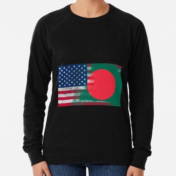 Bangladeshi American Half Bangladesh Half America Flag  Lightweight Sweatshirt