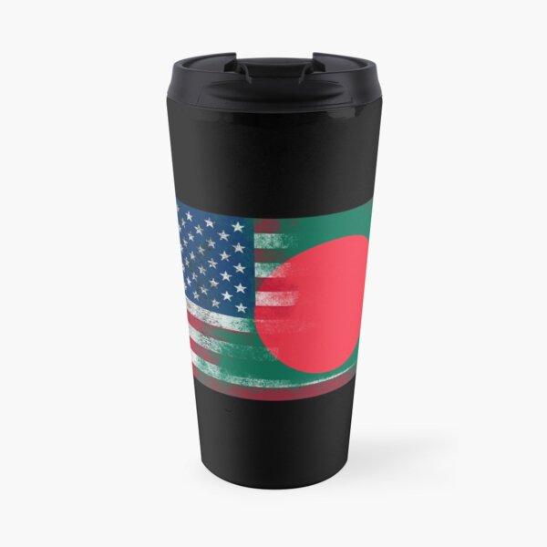Bangladeshi American Half Bangladesh Half America Flag  Travel Mug