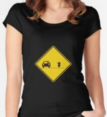 New Road Sign Women's Fitted Scoop T-Shirt