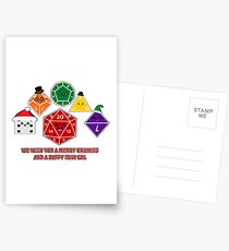 Polyhedral Pals - Merry CritMiss! Postcards