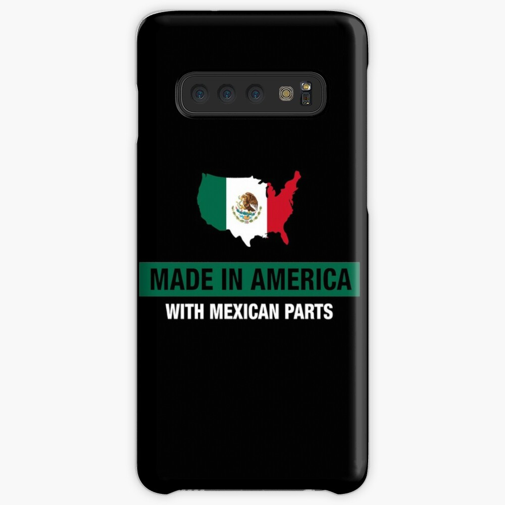 Made In America With Mexican Parts Mexico Flag Case & Skin for Samsung Galaxy