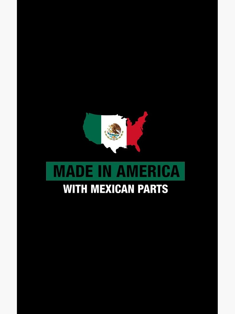 Made In America With Mexican Parts Mexico Flag by ozziwar