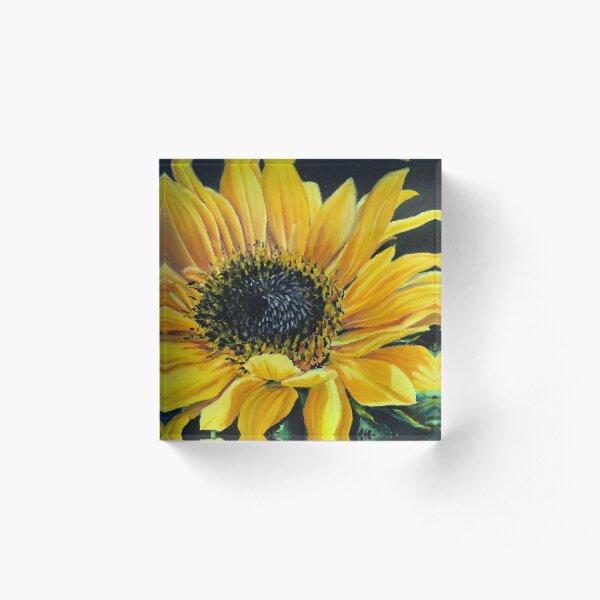 Sunflower Acrylic Block