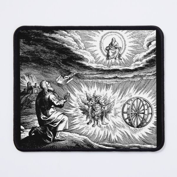 UFOs in Ancient Art. Chariot vision of Ezekiel. Mouse Pad