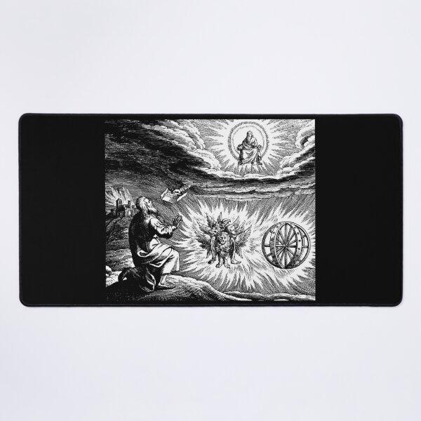 UFOs in Ancient Art. Chariot vision of Ezekiel. Desk Mat