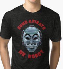 DOMO ARIGATO MR ROBOT Tri-blend T-Shirt