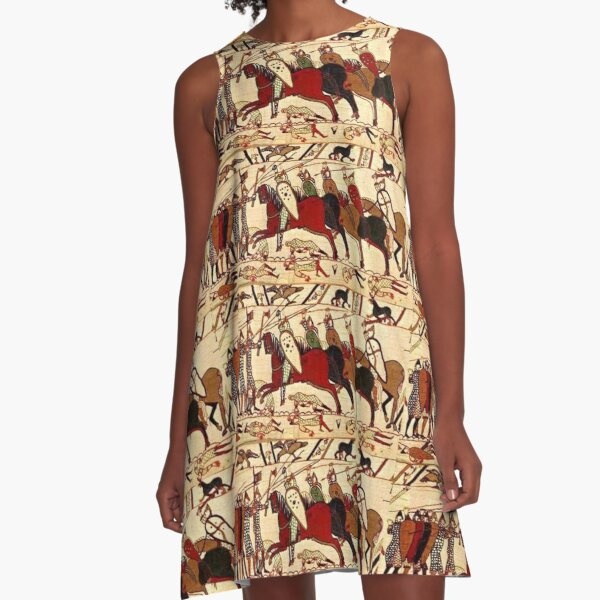 Bayeux Tapestry. Battle of Hastings. 1066. A-Line Dress