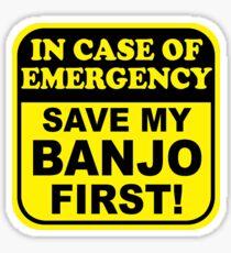 Banjo Emergency Sticker