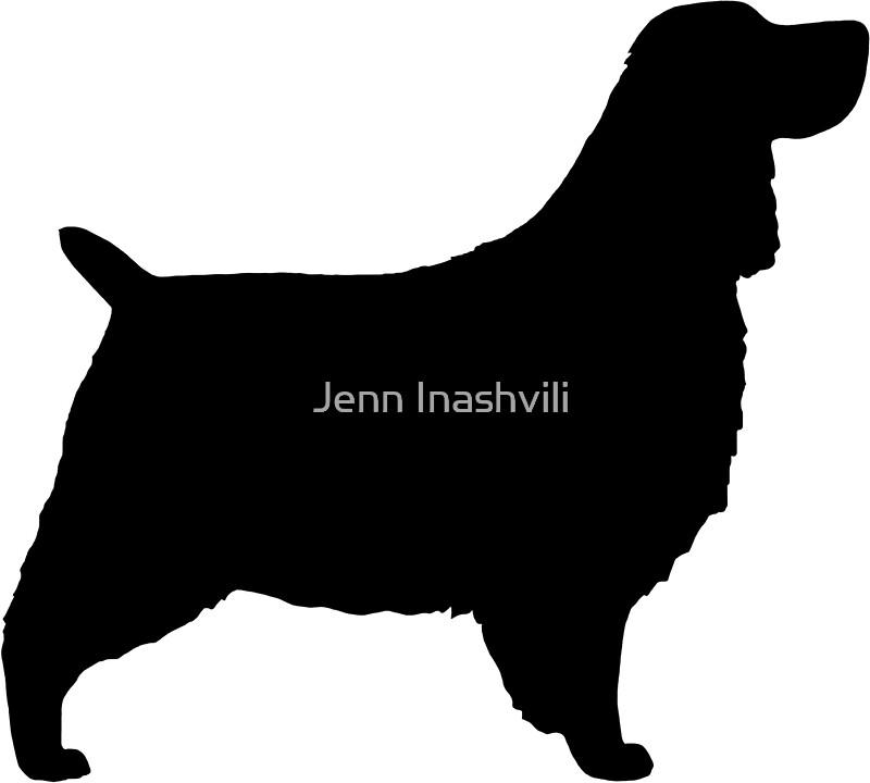 english springer spaniel silhouettes by jenn inashvili