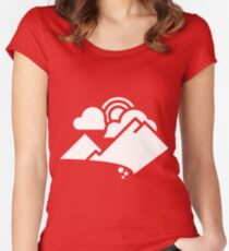Mountain Skies Women's Fitted Scoop T-Shirt