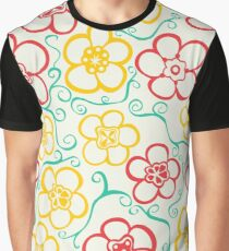 Vibrant, Striking,  Flower Pattern  Graphic T-Shirt