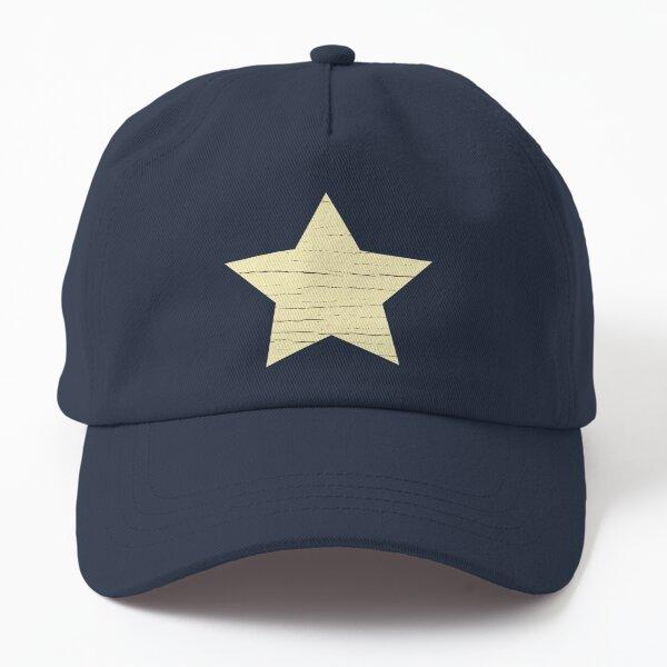 Beige Retro Star Print  Dad Hat