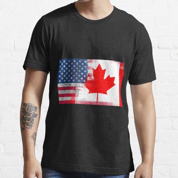 Kanadische amerikanische halb Kanada halb Amerika Flagge Essential T-Shirt