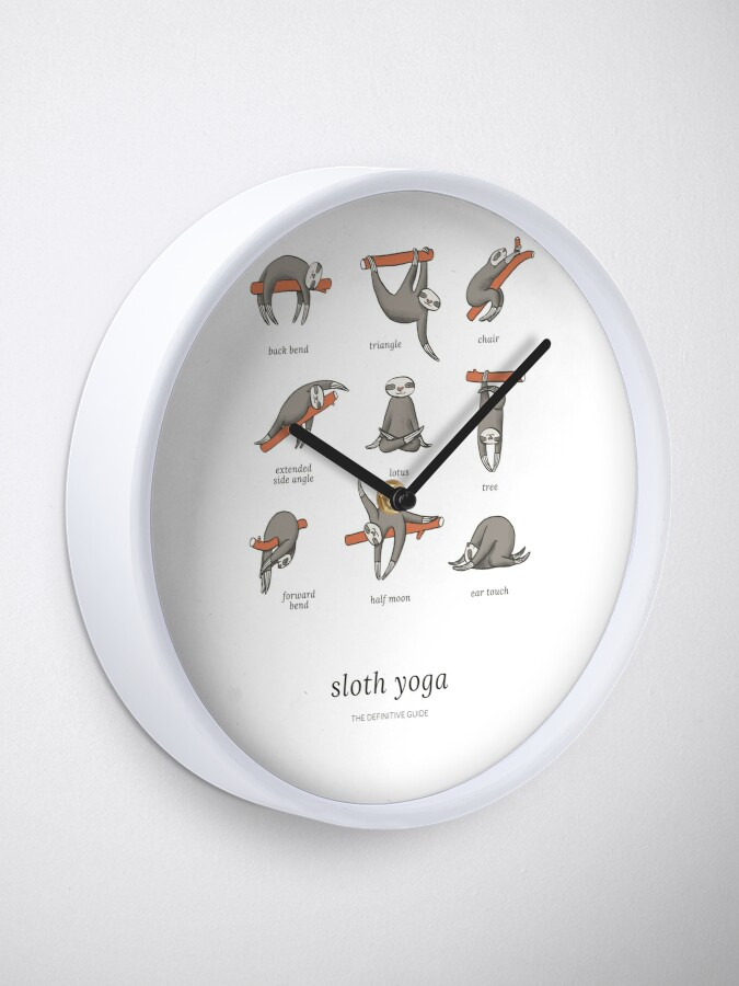 Alternate view of Sloth Yoga - The Definitive Guide Clock