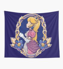 Stained-Glass Peach Wall Tapestry