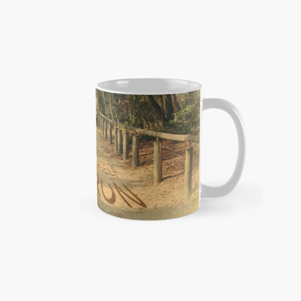 Find Yourself Go Run Motivational Dirt Road Classic Mug