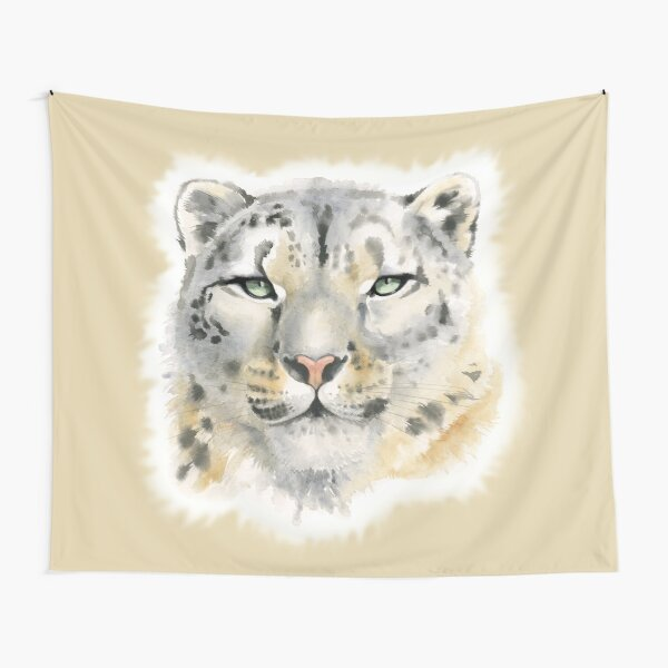 Snow Leopard - Queen of the Mountains Tapestry