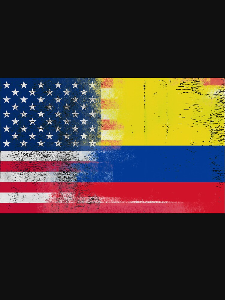 colombian american half colombia half america flag classic t shirt