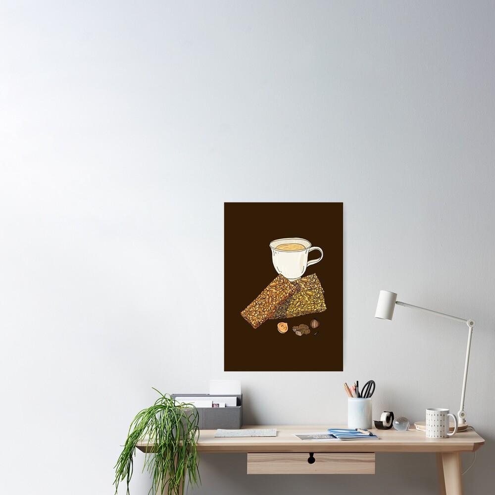 Gozinaki - Georgian Caramelized Honey & Nut Brittle Poster