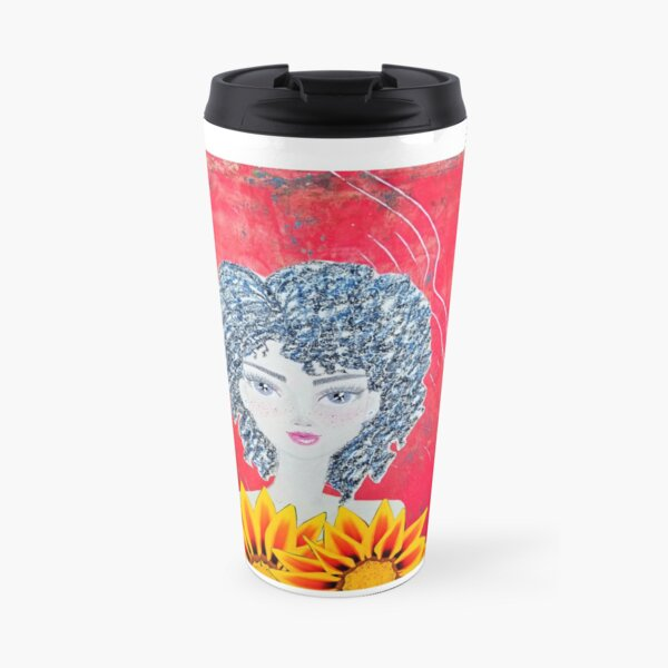 """""""I wish I could wear flowers, but this shirt will do"""" CoolCleverCute design Travel Mug"""