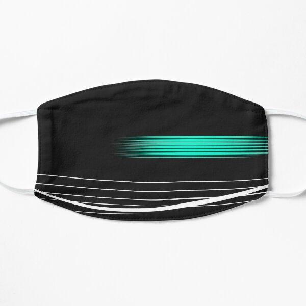 formule racing cool - feux verts brillants noirs Masque sans plis
